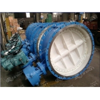 China Double eccentric flanged electric operated butterfly valve on sale
