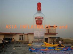 China 8m High Smirnoff Vodka Advertising Inflatable Bottle Model on sale