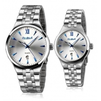 FORHUA fashion date blue index couple watch