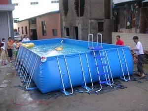 China High Quality 0.9mm PVC Tarpaulin Metal Frame Swimming Pool for Sale on sale