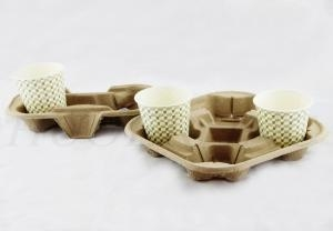 China Biodegradable Paper Pulp Food Servers And Trays Bowls on sale