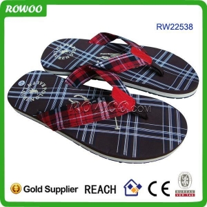 China New Style Man Summer Textile EVA Slippers on sale