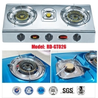 China 3 burner Stainless steel gas stove/big burner gas cooker/Janpanese style/RD-GT026 on sale
