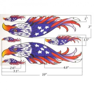 China Stars and Stripes Eagle Helmet & Fuel Tank Decal Sticker For BMW R1200LT K1600 on sale