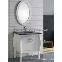 Antique Floor Wood Bathroom Vanity granite countertop North American bathroom cabinet FM-S1201