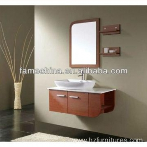 China Art ceramic basin Melamine Bathroom Cabinet on sale