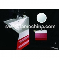 China 2013 Red High Gloss Painting MDF Hotel Bath Vanity on sale