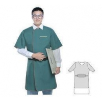 China Super Soft X-ray Lead Aprons with Semi sleeve , X ray protective equipment on sale