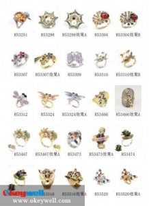 China Animal rings/Finger ring/Rhinestone rings on sale
