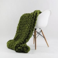 China Super Chunky Knit Blanket, Merino, Giant Knit, Hand Knit Throw on sale