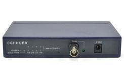 China 1-Port BNC to 8-Port RJ45 10M Network Hub on sale