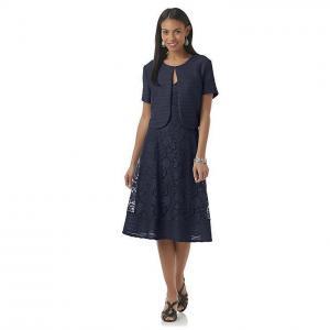 China Covington Women's Lace Fit & Flare Dress & Shrug on sale