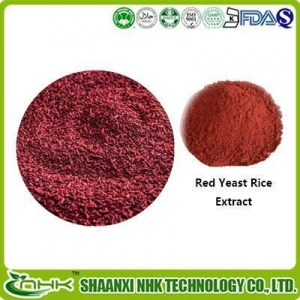China Red Yeast Rice Extract Powder, Monacolin K 5%, Lovastatin, Monascus Purpureus Color Pigment on sale