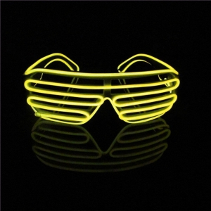 China Yellow Neon Light Up colorful El Wire Glasses on sale