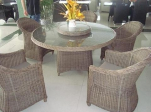 China rattan 6 seater dining set Esr-9658 on sale