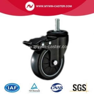 China PU Thread Stem Swivel Industrial Caster on sale