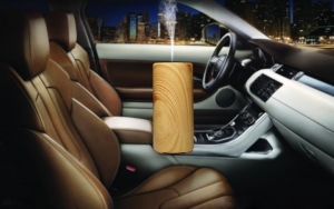 China Wood grain Car Air Humidifier Purifier Freshener Aroma Essential Oil Diffuser on sale