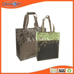 China Open top non woven shopping bag 100gsm brown color on sale