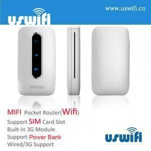 China 3G SIM Wireless Router support Power Bank US-W10 on sale