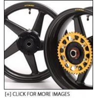 China Dymag CA5 Carbon Fibre 5 Spoke Wheels for Kawasaki ZX-6R 2005-2014 (Used Pair) on sale