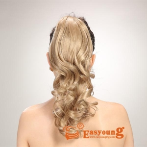 China Blonde hair extension clip ponytail short hairpieces YS-8136 on sale