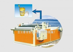 China Non-woven rewinding drilling machine - barreled wet wipes machine on sale