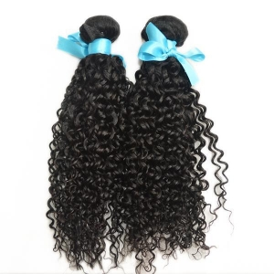 China Virgin Indian curly wave human hair bundles 2pcs on sale