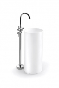 China Modified Acrylic Solid Surface Basin Free Standing Sink BPB001 on sale