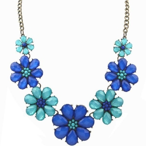 China Charm resin flower necklace on sale