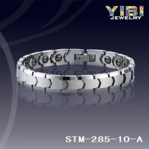 China Mens Magnet Hematite Bracelet Tunsten Carbide Bracelet STM-285-10-A on sale