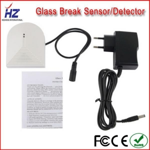 China The most economical alarm system accessaries wireless glass break sensor detector 12v on sale