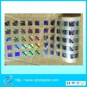 China Hologram Security Label Hologram Hot Stamping foil with Register mark on sale