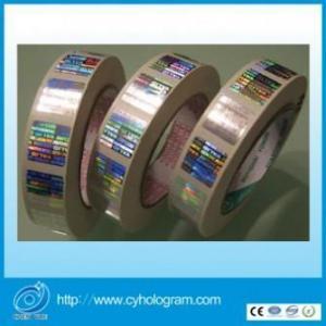 China Tamper Evident Hologram Sticker in Roll on sale
