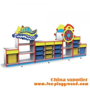 China Kindergarten Equipment Kindergarten furniture of children toys cabinet on sale