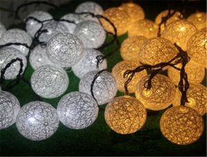 China led cotton ball string light on sale