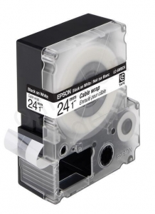 China Epson LC-6WBC9 24mm 9m Black/White Cable Wrap Label Cartridge Ref C53S627404 *3 to 5 Day Leadtime* on sale
