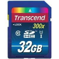 Transcend 32GB SDHC Memory Card Class 10 UHS-1 Ref TS32GSDU1 *3 to 5 Day Leadtime*