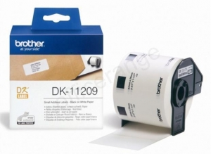 China Brother PTouch DK-11209 29mmx62mm BlkOnWht SmallAddressLab 800 Labels Ref DK11209 on sale