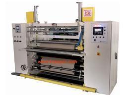 China HR SR 121 Shaft Less Slitting & Rewinding Machine for Plotter Paper Rolls. on sale