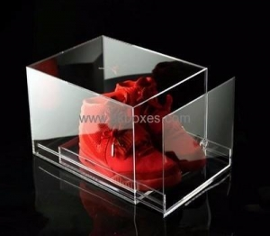 China Customized acrylic shoe box with drawer BSB-004 on sale