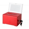 China Factory direct sale acrylic ballotbox cheap ballot boxes plastic collection boxes BBS-043 for sale