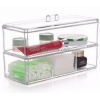 China Customized 2 tiers clear acrylic unique design make up box BMB-008 for sale