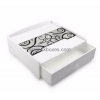 China Product Customized white acrylic drawer box with printing BMB-006 for sale
