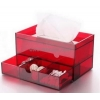 China Top quality acrylic facial tissue box with drawer design BTB-010 for sale