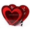 China Heart shape red acrylic ballot box with lock BBS-007 for sale