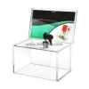 China Factory direct sale clear acrylic lucky draw box BBS-004 for sale