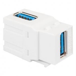 China MODULE, 90 DEGREE USB 3.0, F-F, WHITE Modular Connectors on sale