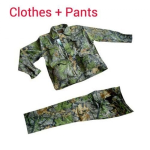 China Headlights BCS-003Pure Cotton Green leaf bionic Duck Camouflage Hunting and Fishing Clothes Suits on sale