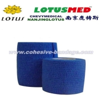 Health Care Coloured Medical Cotton And Non-woven Cohesive Elastic Bandage