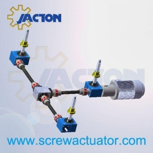 China building worm geared screw jacks elevator system on sale